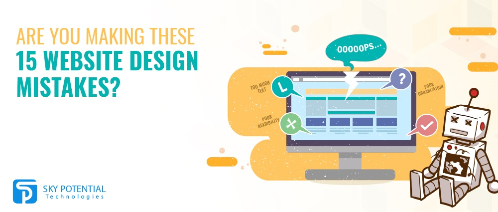 Are you making these 15 website design mistakes